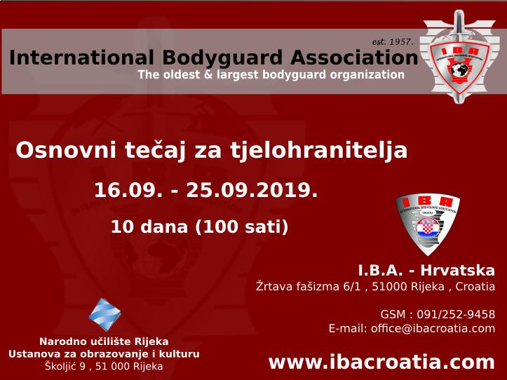 Osnovni tečaj za tjelohranitelja @ IBA Hrvatska | Rijeka | Primorsko-goranska županija | Hrvatska